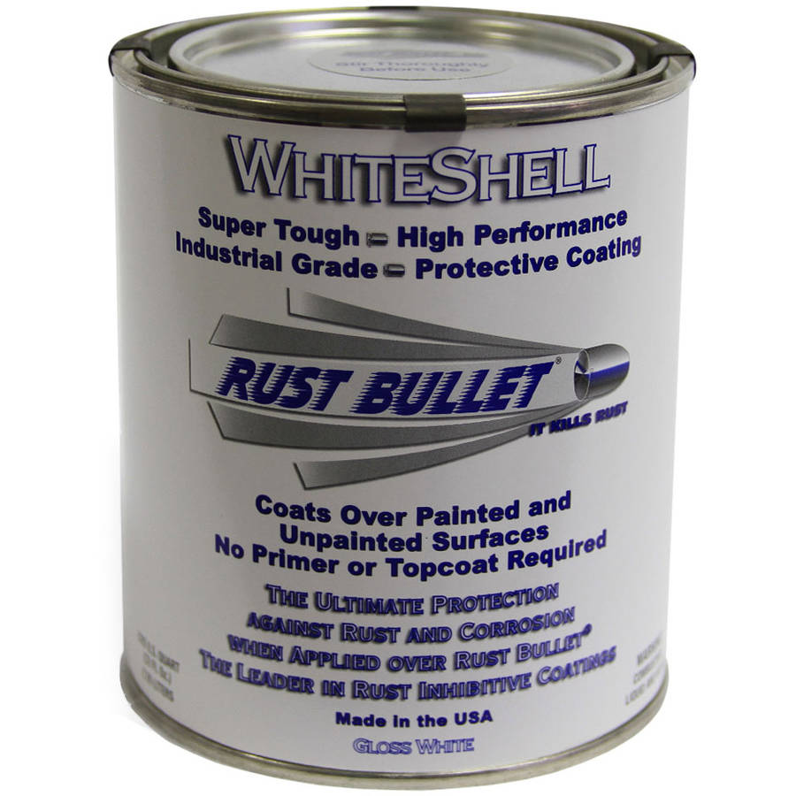 Rust Bullet WhiteShell, Rust Preventative and Protective Coating, Quart