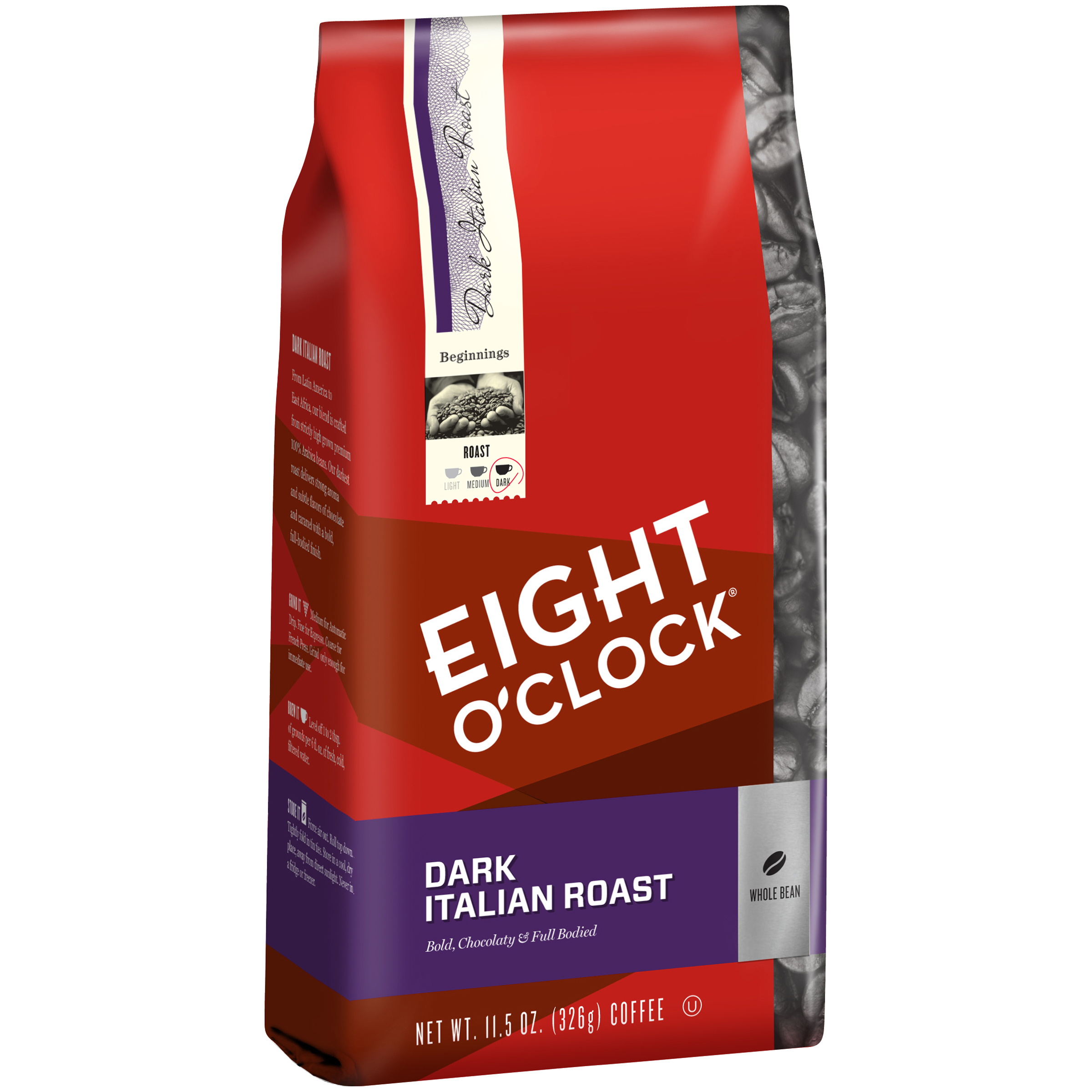 Eight O'Clock�� Dark Italian Roast Whole Bean Coffee 11.5 oz. Bag
