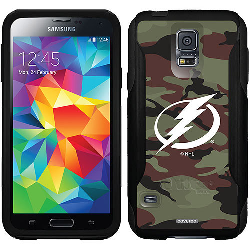 Tampa Lightning Traditional Camo Design on OtterBox Commuter Series Case for Samsung Galaxy S5
