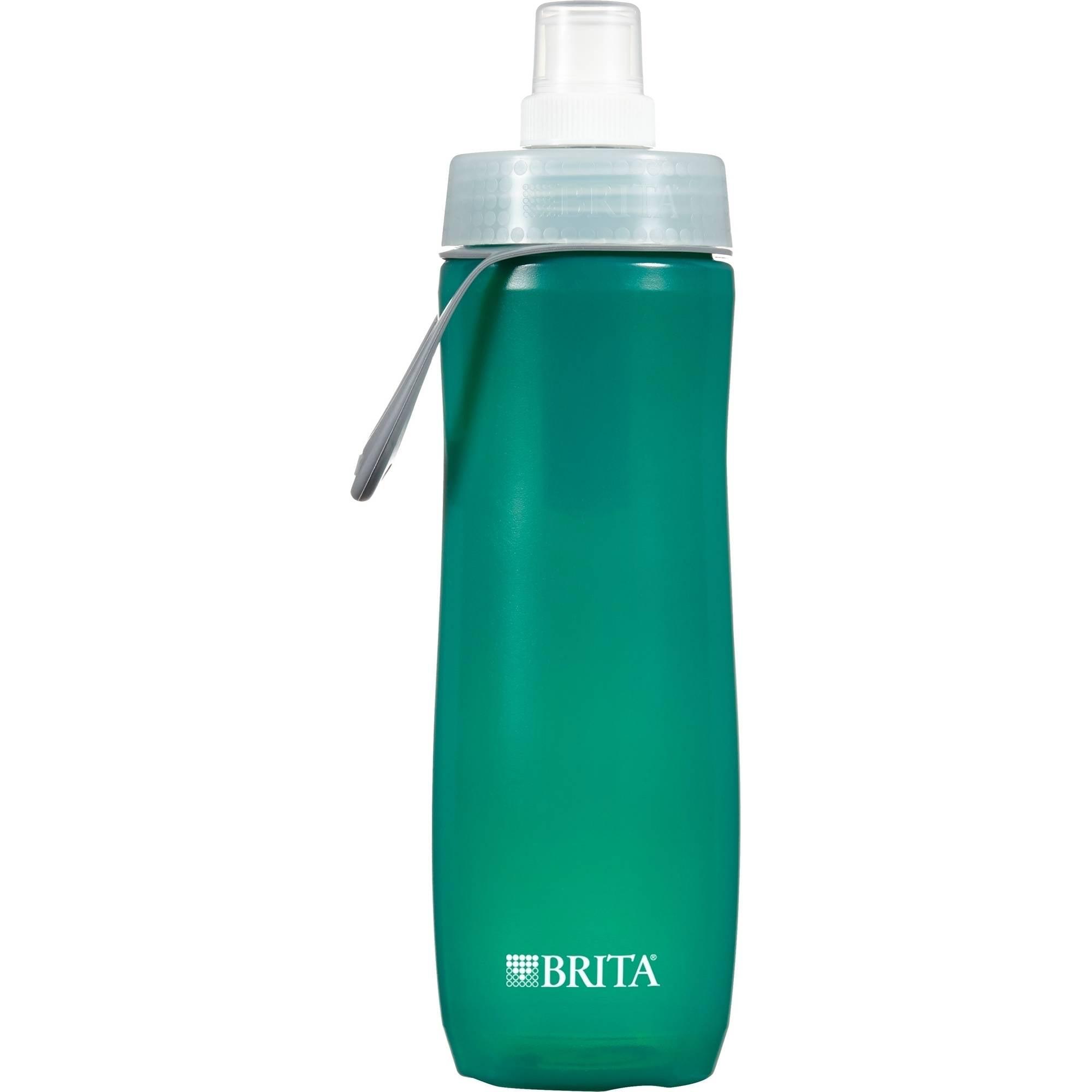 Brita Sport Water Filter Bottle, Dark Green, 20 ounce, BPA Free