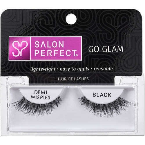 Salon Perfect Perfectly Glamorous Eyelashes, Demi Wispies Black, 1 pr