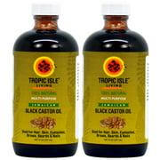 Tropic Isle Living Jamaican Black Castor Oil 8 oz (Pack of 2)
