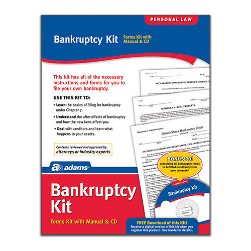 Adams Business Forms Bankruptcy Forms and Instruction (Set of 4) (Set of 96)