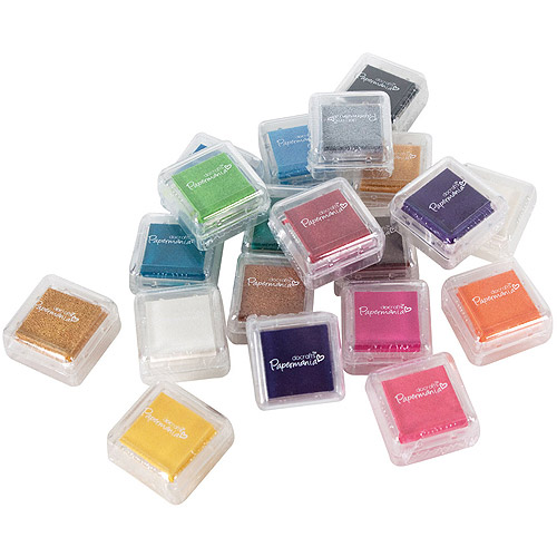 Papermania Mini Dye Ink Pads, 20pk, Assorted Colors