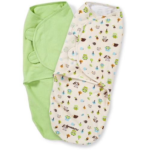Summer Infant SwaddleMe Swaddling Blanket, Woodland Friends, Large, 2pk
