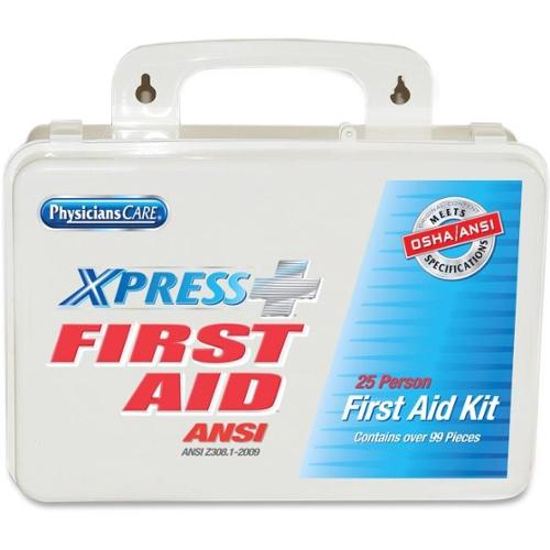 PhysiciansCare 25-person Express First Aid Kit - 99 x Piece(s) For 25 x Individual(s) Height - 1 Each