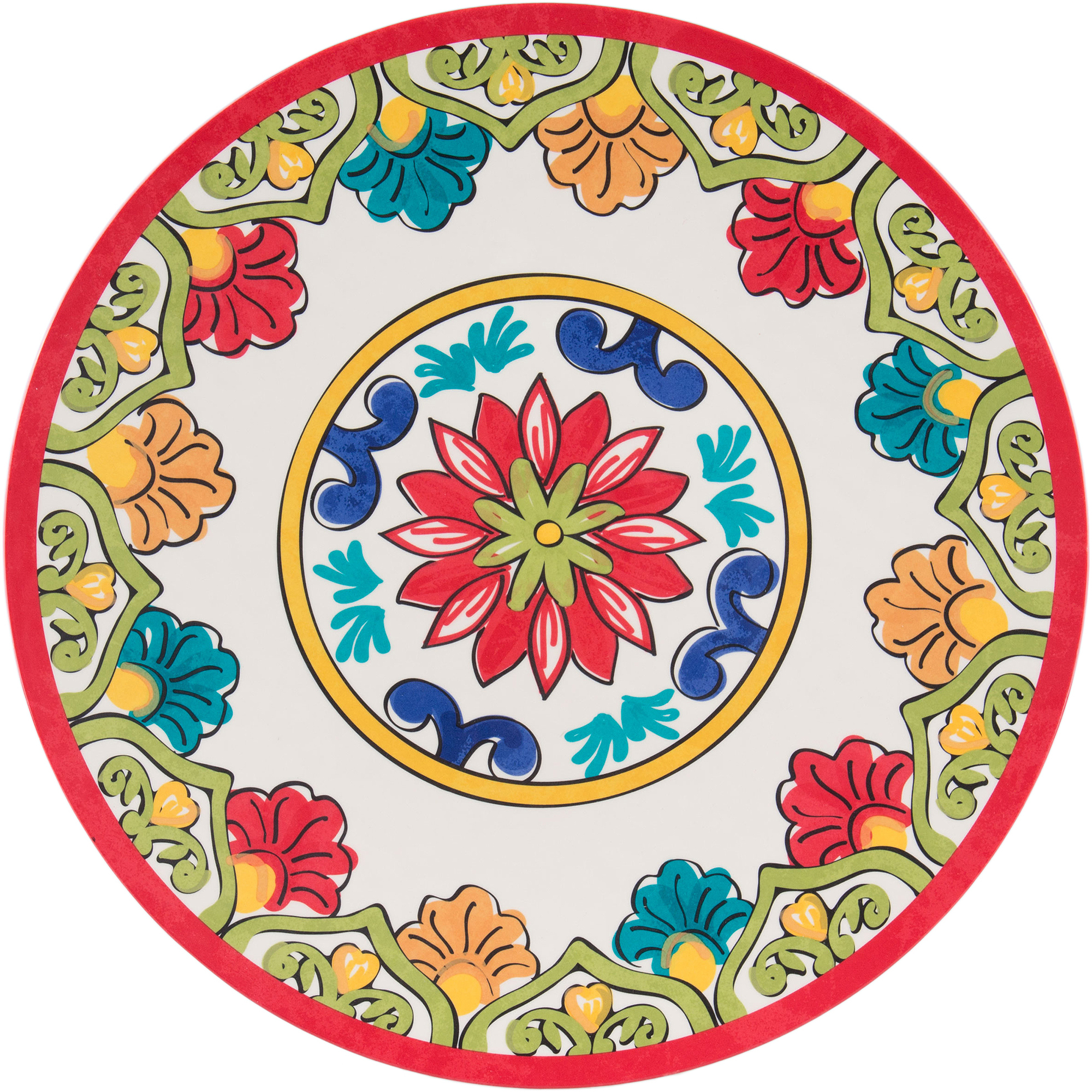 "Better Homes and Gardens 14"" Melamine Serving Platter, Red Damask"