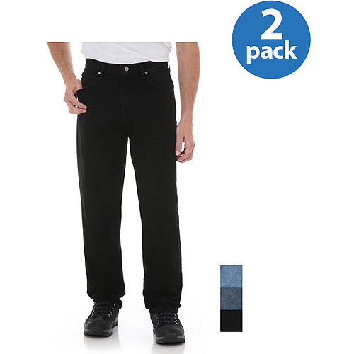 Wrangler - Big Men's Relaxed Fit Jeans, 2-Pack