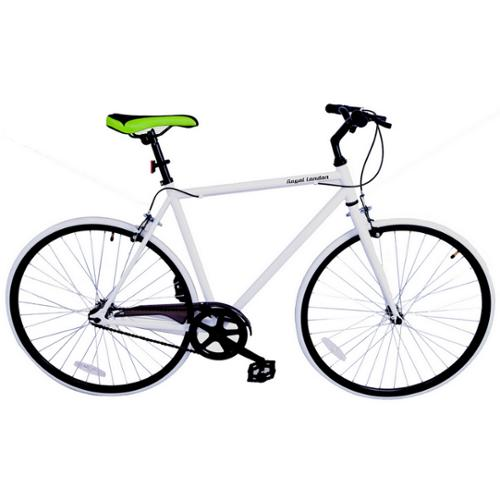 Royal London Fixie Fixed Gear Single Speed Bike - White/Black