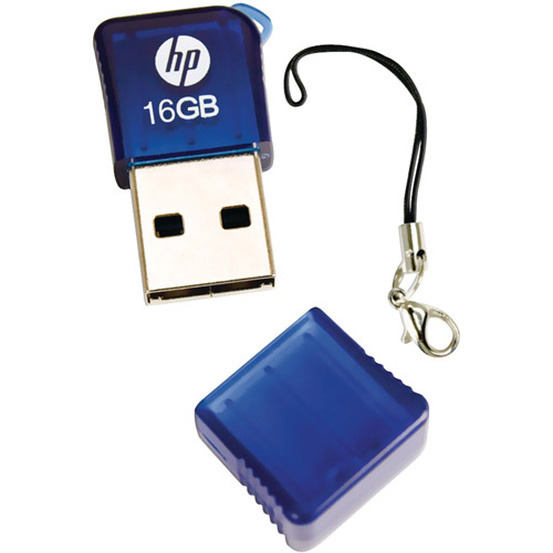 HP P-fd16ghp165-ef 16GB Hpv165w USB Flash Drive, Blue