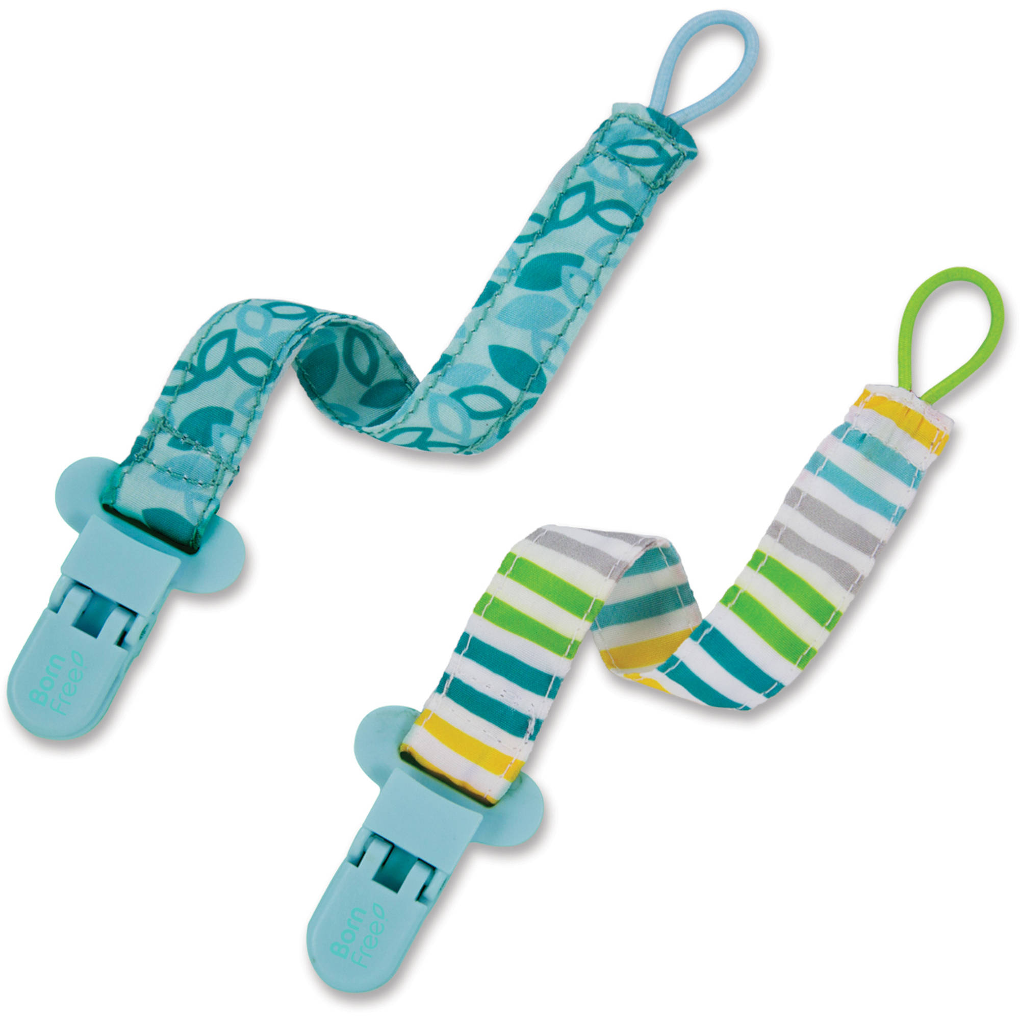 Born Free Bliss Pacifier Holder, Neutral, 2pk