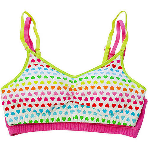 Fruit of the Loom - 2-Pack Girls' Removable Cookie Bras
