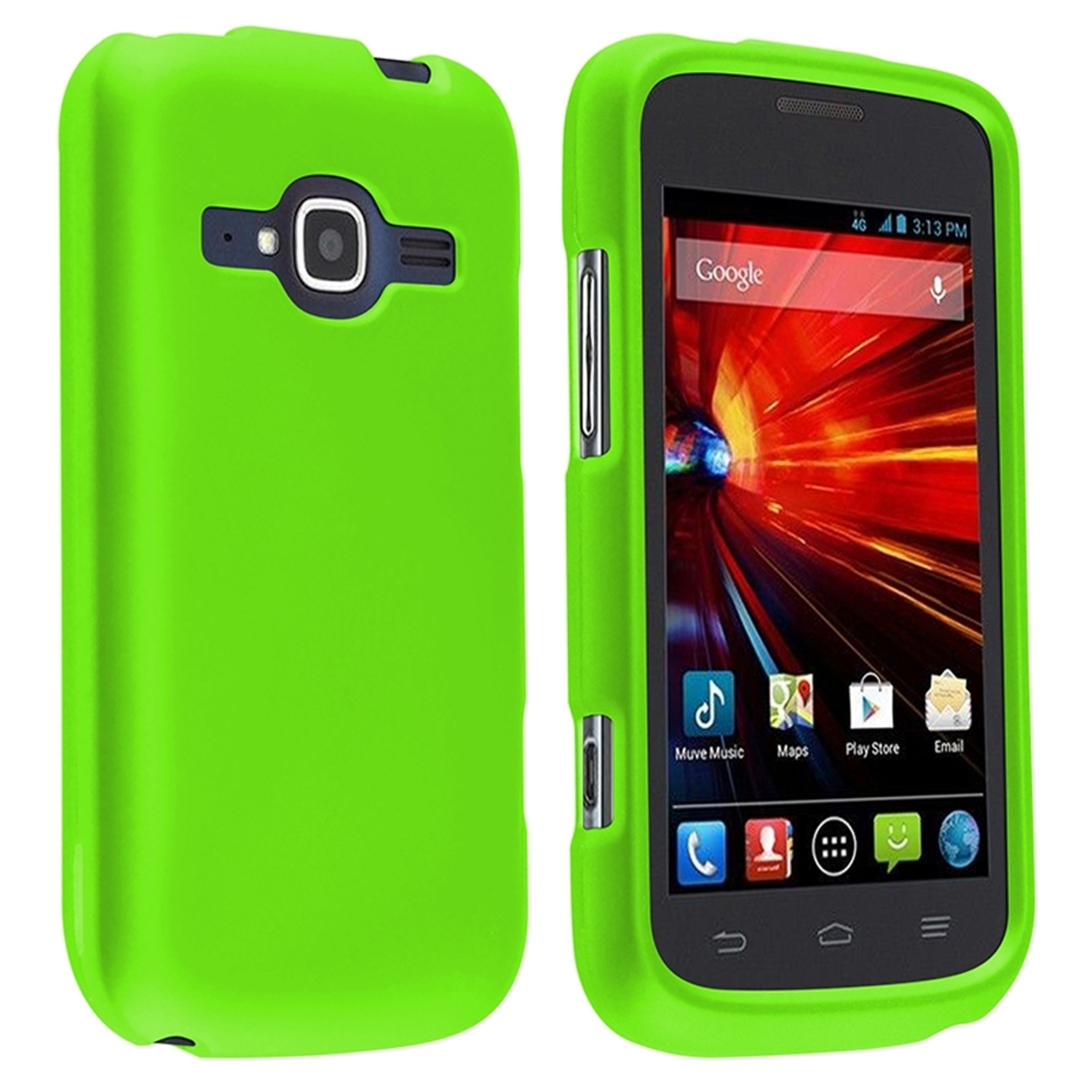 Insten Neon Green Ultra Thin Clip On Hard Shell Phone Case Cover For ZTE Concord II Z730