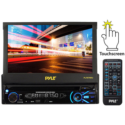 "Pyle Audio PLTS76DU 7"" Touchscreen Motorized Detachable TFT/LCD Monitor with DVD/CD/MP3/AM/FM Receiver"