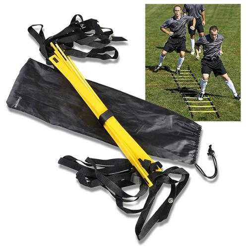 Insten 4 Meter Yellow Agility Training Ladder for Soccer Speed Football Fitness Feet Training (with Carry bag)