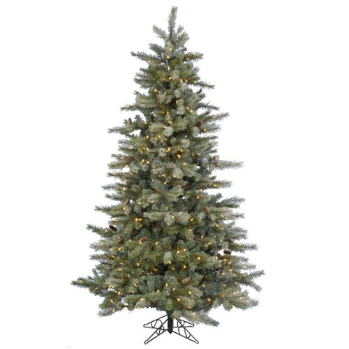 15'  Pre-Lit Full Frosted Sartell Artificial Christmas Tree - Multi-Color LED Lights