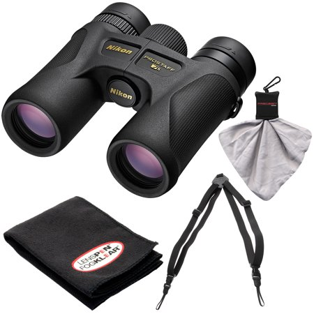 Nikon Prostaff 7S 8x30 ATB Waterproof/Fogproof Binoculars with Case + Easy Carry Harness + Cleaning Cloth Kit