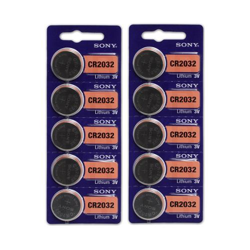 10 Count Sony CR2032 High Energy Button Cell Lithium Watch 3V Battery
