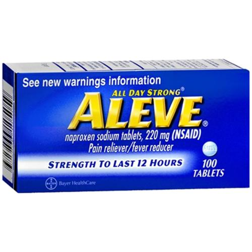 Aleve Tablets 100 Tablets (Pack of 4)