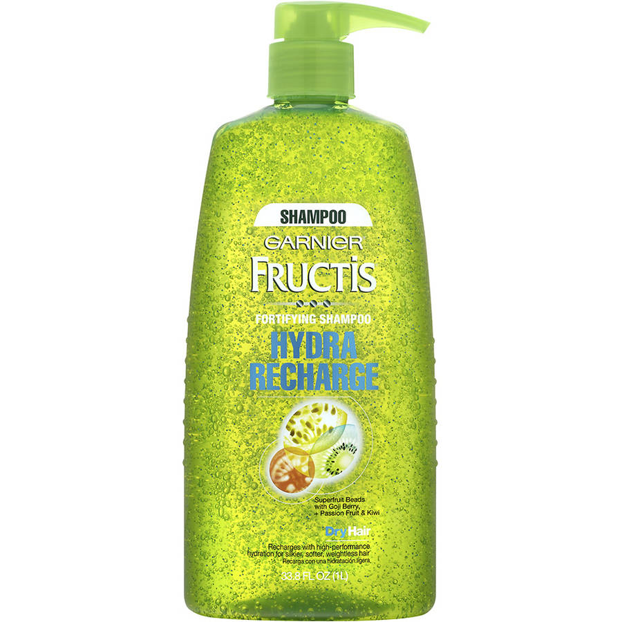 Garnier Fructis Hydra Recharge Fortifying Shampoo for Normal to Dry Hair, 33.8 fl oz