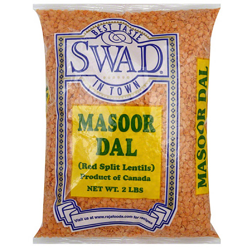 Swad Masoor Dal Red Split Lentils, 32 oz, (Pack of 6)