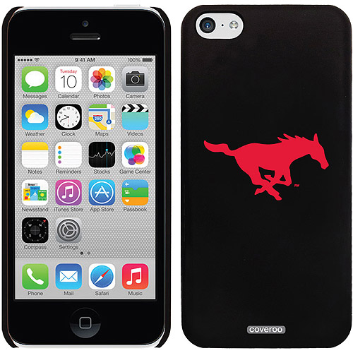 SMU Mustang Logo Design on iPhone 5c Thinshield Snap-On Case by Coveroo