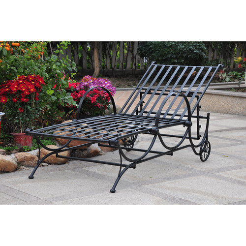 International Caravan Mandalay Iron Patio Chaise Lounger