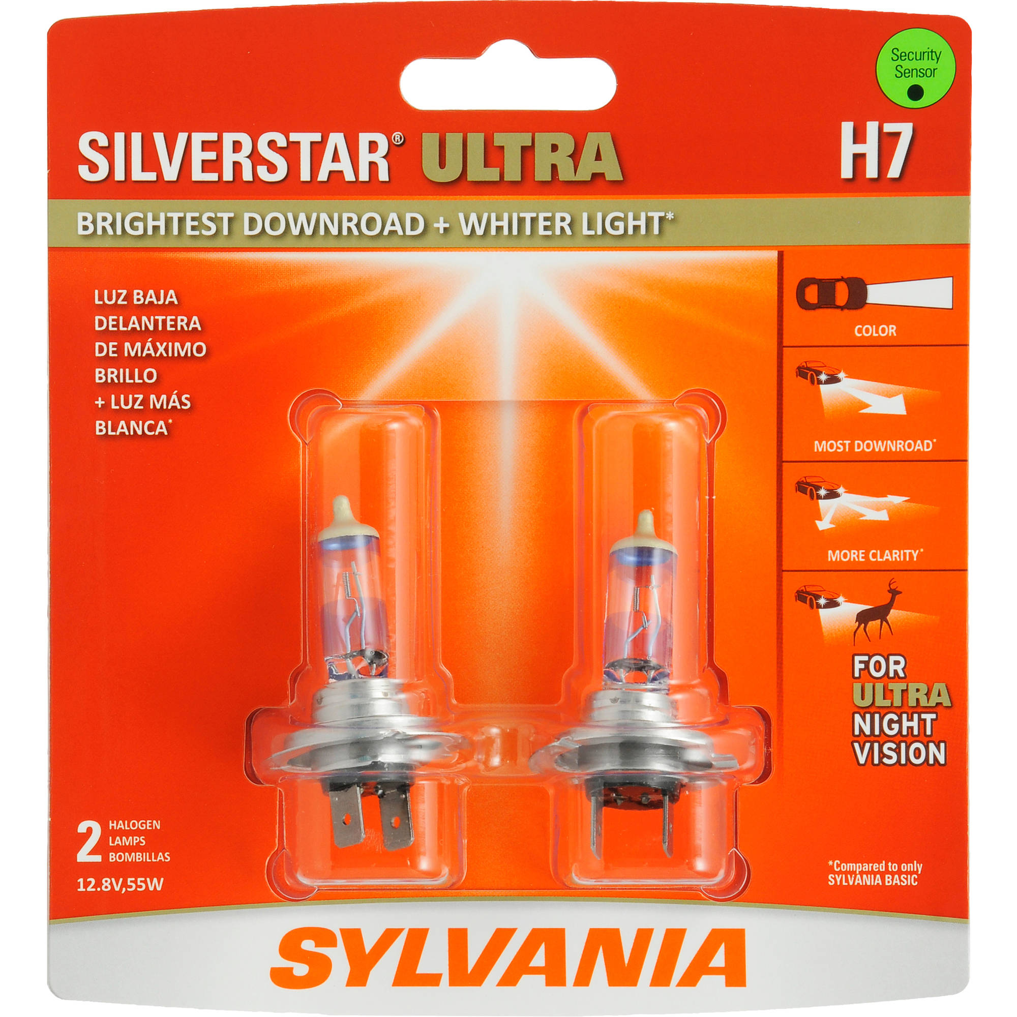 Sylvania H7 SilverStar ULTRA Headlight, Contains 2 Bulbs