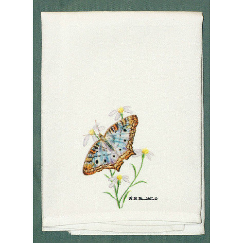 Betsy Drake Interiors Butterfly Peacock Hand Towel (Set of 2)