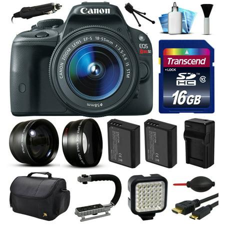 Canon EOS Rebel SL1 100D Digital Camera w/ 18-55mm Lens (16GB Essential Bundle)