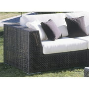 Hospitality Rattan Soho Patio Corner Lounge Chair with Cushion