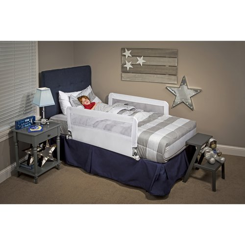 Regalo Hide Away Double Sided Safety Bed Rail, Includes Two Rails 43-Inch Long and 18-Inch Tall
