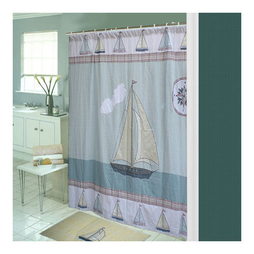 Patch Magic Nautical Cotton Shower Curtain