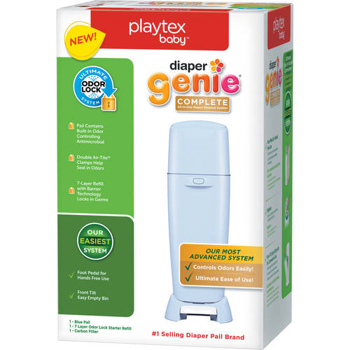 Playtex Baby Diaper Genie Complete Antimicrobial Pail (Choose Your Color)