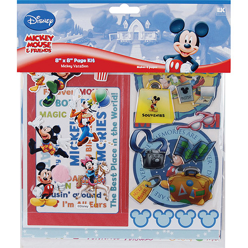 "EK Success Disney ""Vacation"" Page Kit, 8"" x 8"""