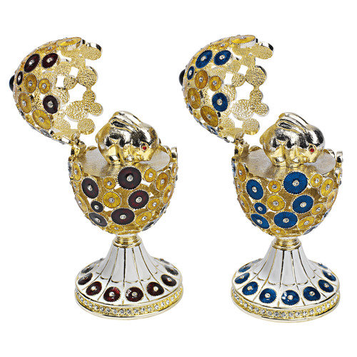 Design Toscano The Lepridae Faberge - Style Enameled Egg Set