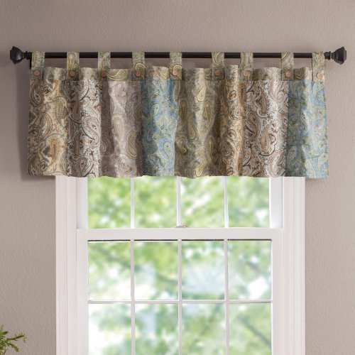 Greenland Home Fashions Vintage Jade Patchwork Window Valance