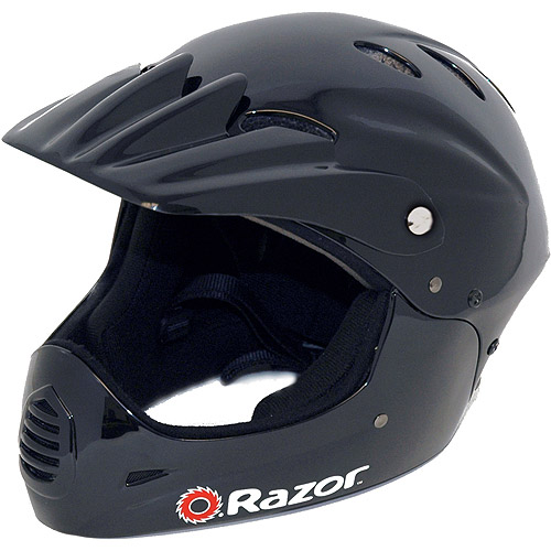 Razor Black Full-Faced Helmet, Youth