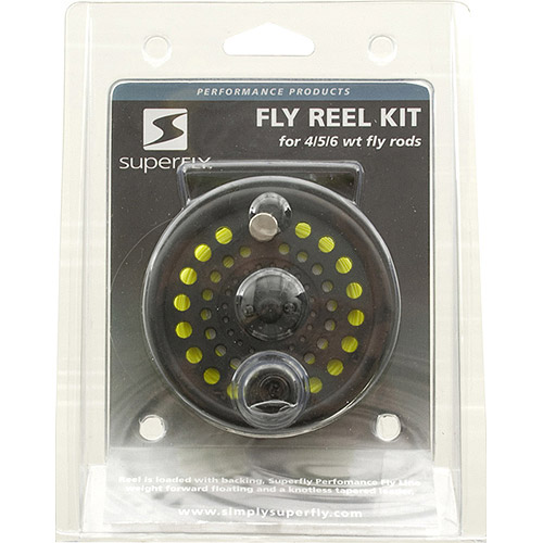 SuperFly Fly Reel Kit with Line, 4/5/6