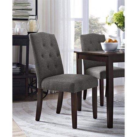 homes and gardens parsons tufted dining chair gray