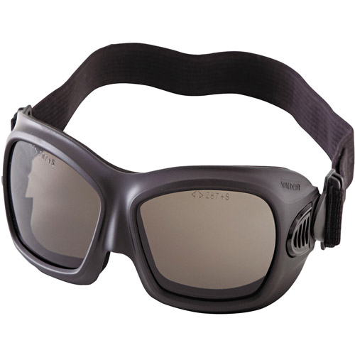 Kimberly-Clark Professional Jackson Safety V80 WildCat Safety Goggles, Black Frame, Smoke Lens