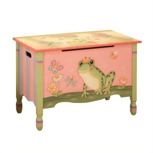 Toy Chest w Frog and Flower Design