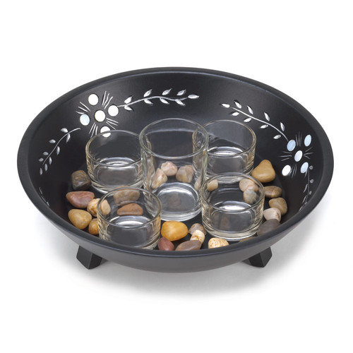 Zingz & Thingz 6 Piece Basin and Candle Display