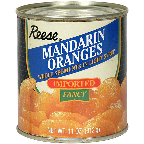 Reese Mandarin Whole Orange Segments In Light Syrup, 11 oz (Pack of 24)