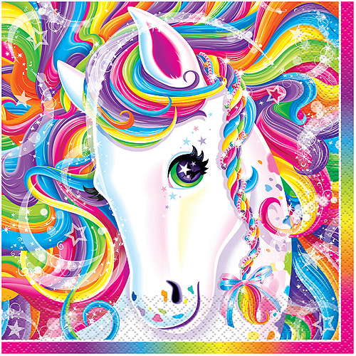 Rainbow Majesty by Lisa Frank Party Napkins, 16ct
