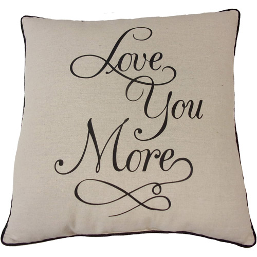 Mainstays Love You More Pillow
