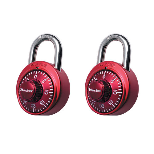 Master Lock Color Combination Locks, 2pk