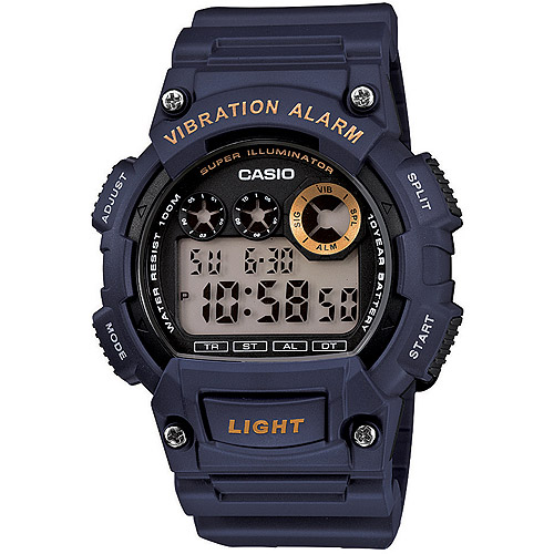 Casio Men's Sport Digital Watch, Blue Resin Strap
