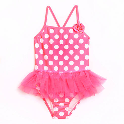 Op Toddler Girl Dynamo Dot Tutu Skirted One-Piece Swimsuit