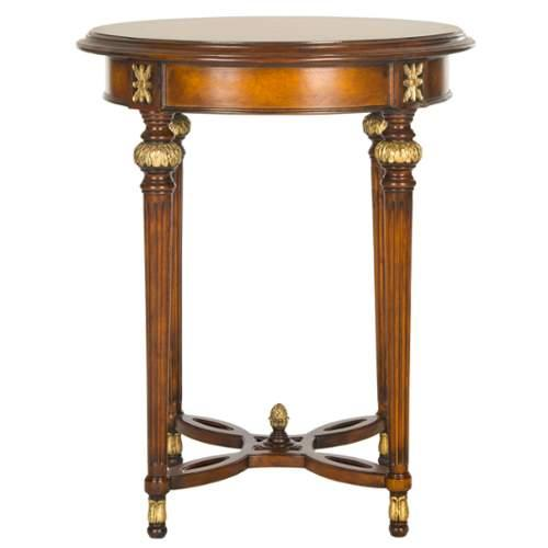 Safavieh  Bromley Side Table  Tables  Bromley  Furniture  End Tables  ;Walnut